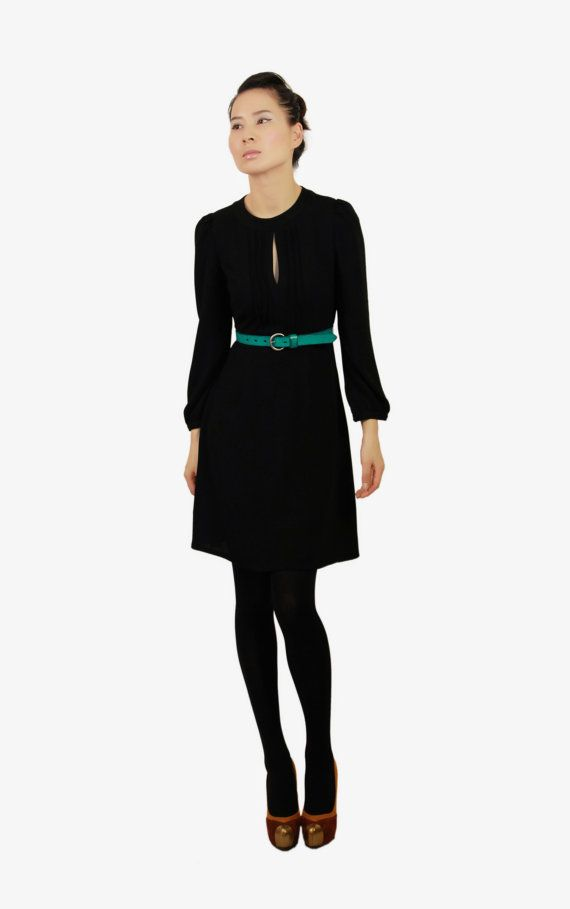 Front pleated black dress by EllaLai on Etsy, $119.00