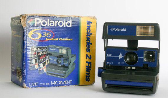 Polaroid 636  Blue  New with Box by DoubleRandC on Etsy #doublerandc #etsyshop #polaroid #polaroid636 #polaroid600series #polaroidcamera #polaroidtested #polaroidblue #vintagepolaroid #vintagecamera