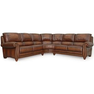 Parker Stationary Sectional By Leather Italia USA Miller Brothers Furniture  Sofa Sectional West Central