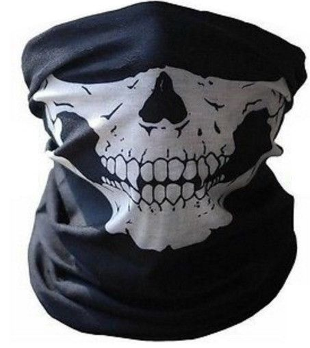 Skull Half Face Bandana Skeleton Ski Motorcycle Biker Mask - Buy 1 Get 1 Free Promotion - One Size Fits All (Adults and Kids) - No uncomfortable & irritating seams and/or hems - Lightweight, breathabl