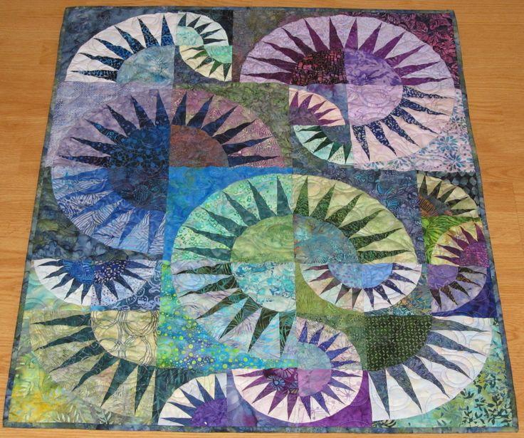 New York Beauty Batik Wall Quilt.