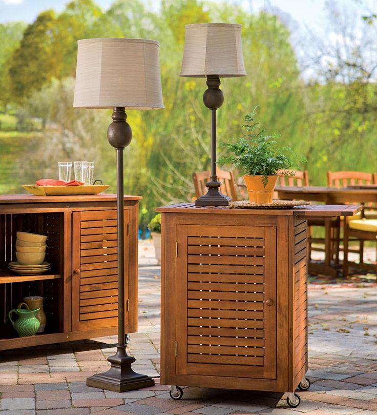 Weatherproof Outdoor Wood Grain Lamps - Plow and Hearth.com