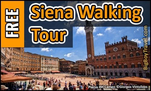 Our free Siena walking tour map from Via Banchi Di Sopra to Piazza del Campo is the best self guided tour in Siena. The do-it-yourself guided Siena walking tour map covers the top sights.