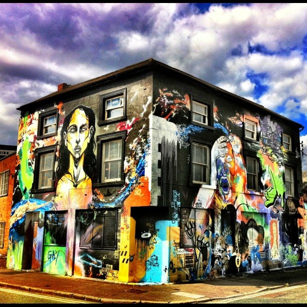 Graffiti House, Andover Street, Digbeth, Birmingham, UK, by Grateful Ghoul, via Flickr.