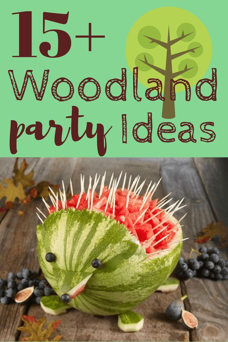 Popular woodland forest animals baby shower ideas – or any woodland-themed party…