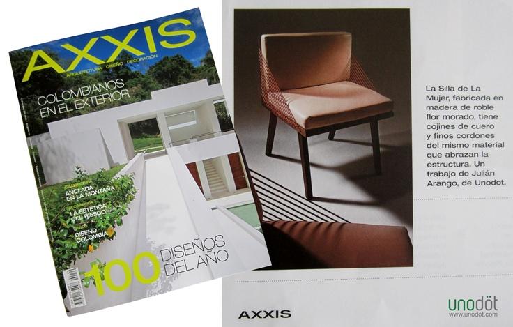 Unodot en los 100 Diseños del año de la revista AXXIS!!! Noviembre de 2012