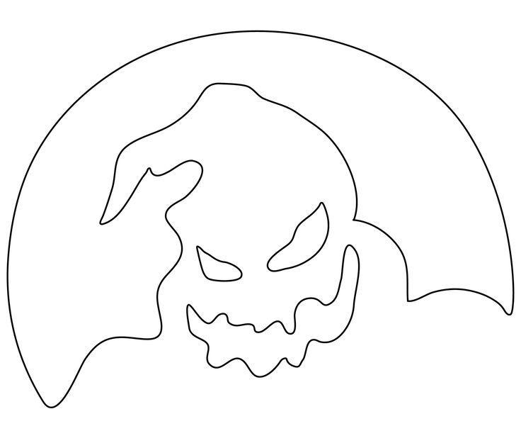 Nightmare Before Christmas Pumpkin Stencils | Nightmare Before Christmas Pumpkin Carving Patterns