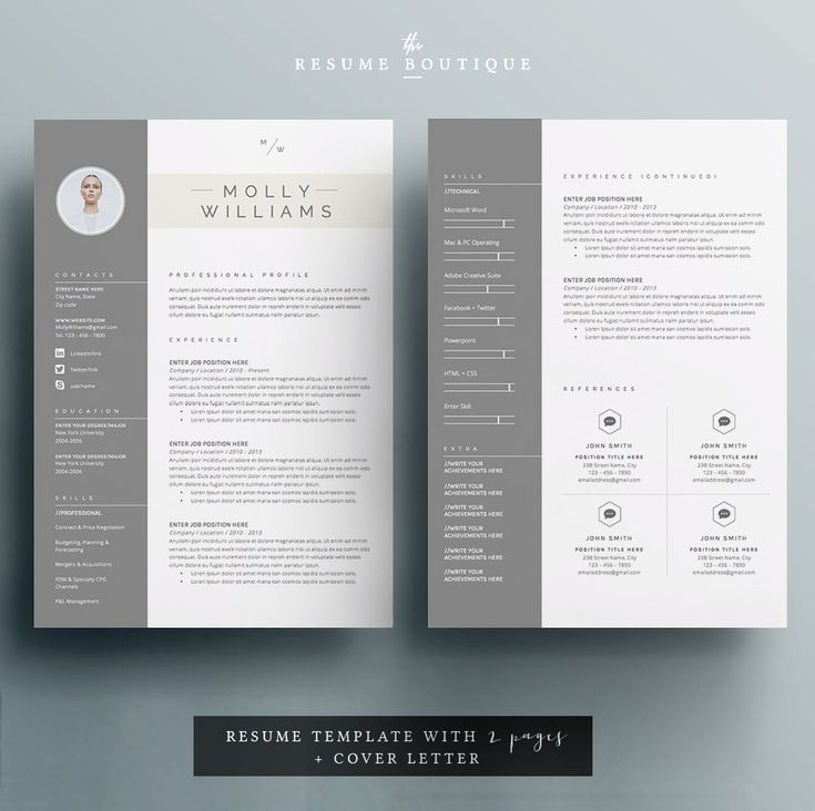 69 best Resumes images on Pinterest Cv template, Design resume - pages templates resume