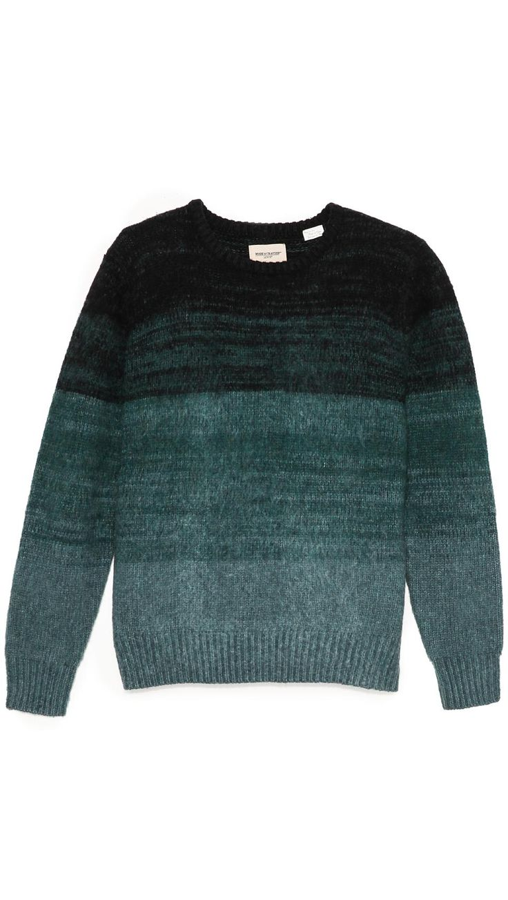 LEVI'S Made Crafted | Ombre Stripe Crew Neck Sweater #levismadeandcrafted #sweater