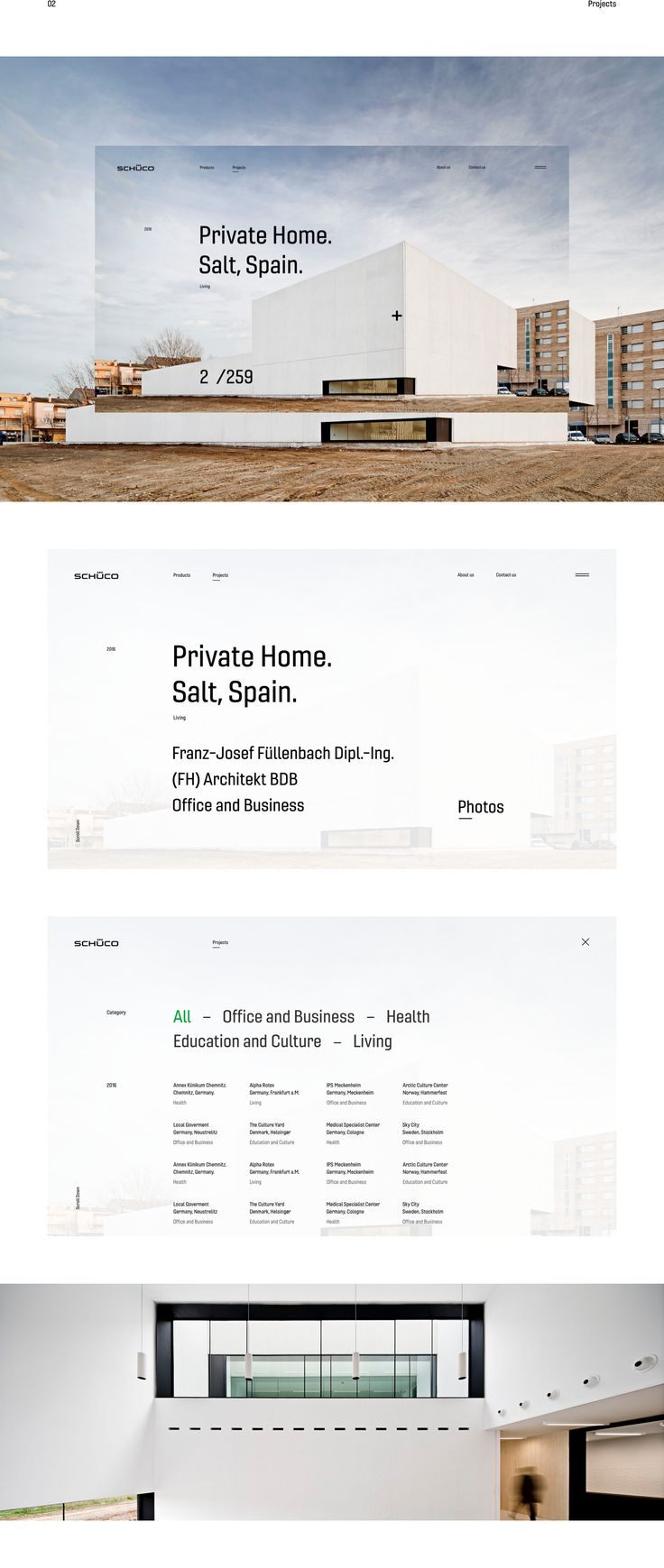 Schüco Redesign Website UI/UX. on Behance
