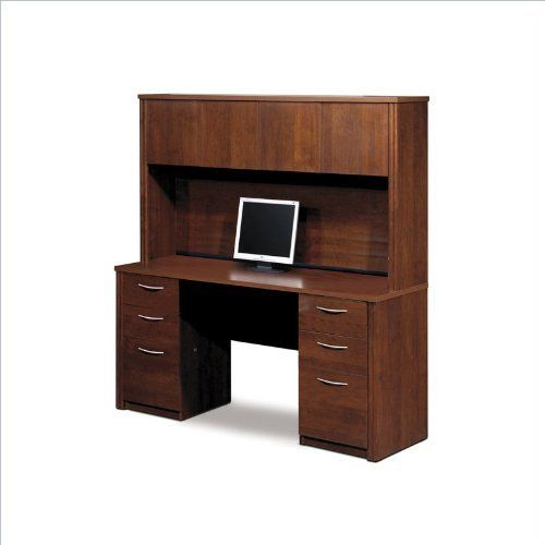 "Bestar Embassy Credenza and Hutch Kit - Tuscany Brown by bestar. $620.14. Tuscany Brown. Embassy offers numerous configuration possibilities for various uses. Offering smaller desks, this collection is ideal for every type of workplace including the home office. The credenza is made of a durable 1"" commercial grade work surface with melamine. Save 45% Off!"