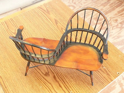 Captivating An Antique Courting Chair  A Great Idea!