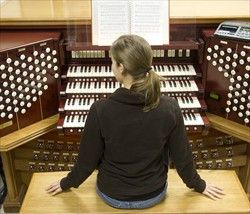 Gotta learn to play the organ ASAP? BYU's got a podcast for that. New LDS Organist, free series of podcasts.