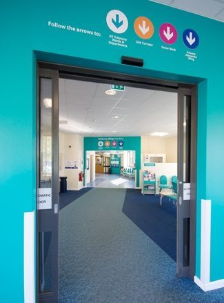 nhs hospital ward wayfinding - Google Search                                                                                                                                                                                 More