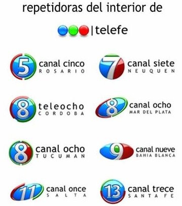 Grupo Telefe - Owned by Clarin, this group is responsible for all the major tv channels, so this is how most of the people of Argentina get their information.
