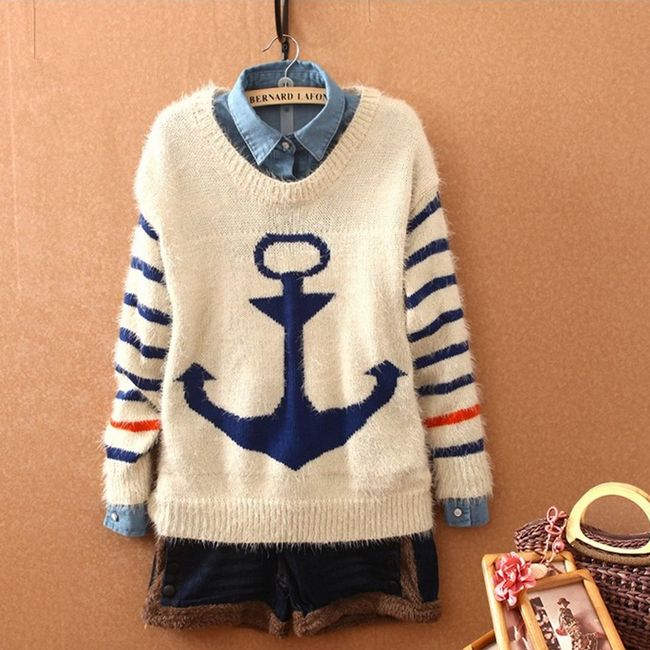 2Cute Anchor Sweater for Women