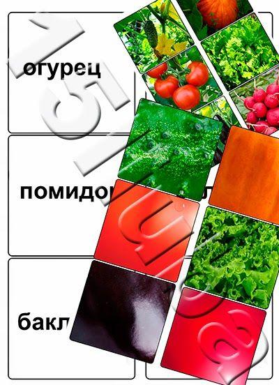"""Некогда скучать: Игра-лото """"Узнай овощ!"""""""