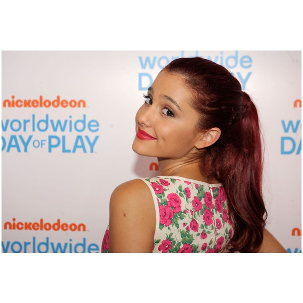 Ariana Grande Worldwide Day of Play Nickelodeon Girls ❤ liked on Polyvore