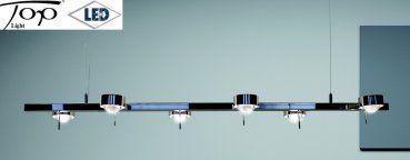 """Ausstellungsstück - LED Pendelleuchte """"SIXTETT"""" chrom nur 12 x 8 Watt Top Light"""
