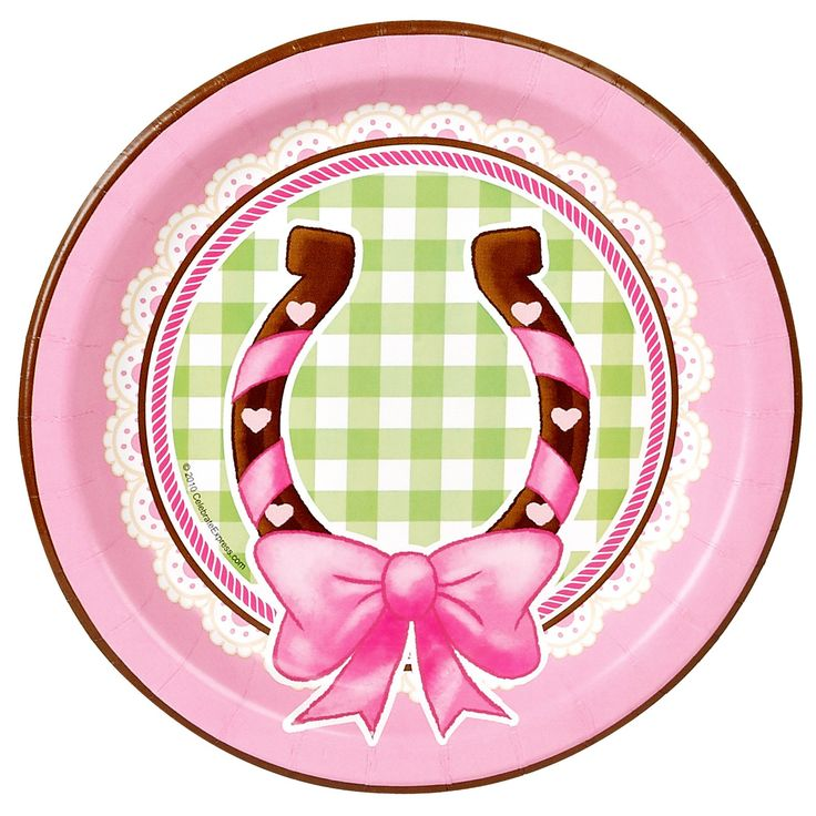 Cute Pink Cowgirl Dessert Plates (8) . Having a pink western party? Serve  sc 1 st  Pinterest & 102 best Themed Party Table Plates - so many to choose from! images ...