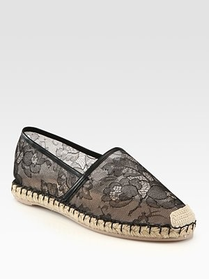 Lace Valentino flats: Lace Espadrilles, Valentino Lace, Flats Espadrilles, Flats Shoes, Leather Espadrilles, Espadrilles Loafers, Lace Flats, Lace Valentino, Valentino Espadrille