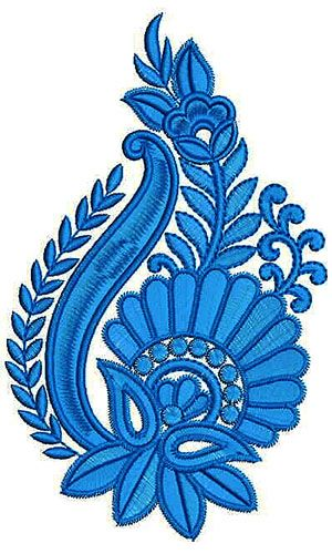Bold Satin Embroidery Applique Design