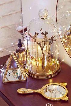 rose glass cloche jewelry holder - Google Search
