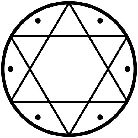 The Seal of Solomon (or Ring of Solomon, Arabic Khātim Sulaymāni خاتم_سليمان) is the signet ring attributed to King Solomon in medieval Islamic tradition, later also in the Jewish Kabbalah and in Western occultism. It was often depicted in either a pentagram or hexagram shape; the latter also known as Shield of David or Star of David in Jewish tradition.