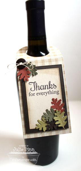 Fall Wine Tag by stampinjewelsd - Cards and Paper Crafts at Splitcoaststampers