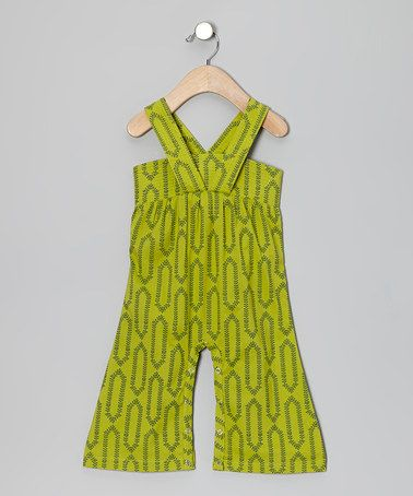 Take a look at this Vine Quilted Organic Gaucho Playsuit - Toddler by kate quinn organics on #zulily today!
