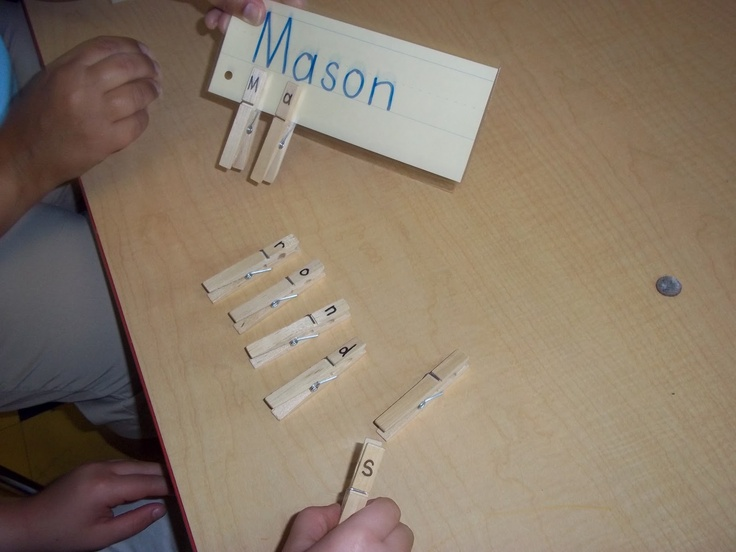 Practicing letter recognition in name