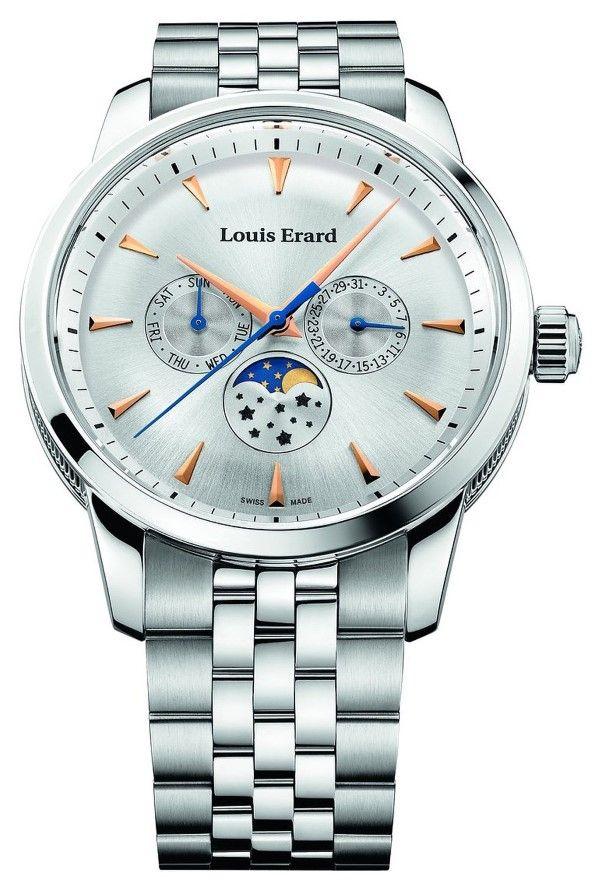 Men watches : Louis Erard Heritage Collection Swiss Quartz Silver Dial Men's Watch 14910AA11.BMA38