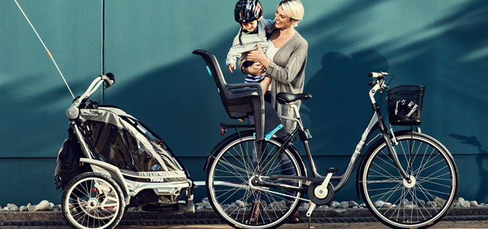 thule ridealong child bike seat promo picture