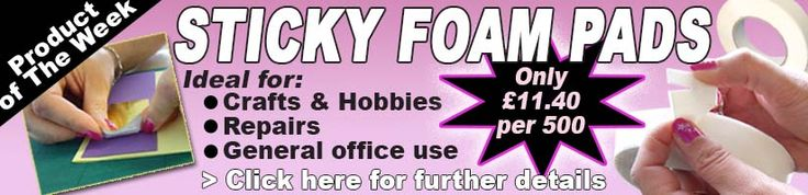 Product of the week: Sticky Foam Pads! Handy for Crafts & Hobbies and much more. Get yours www.directa.co.uk
