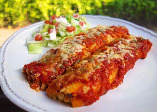 Hähnchen-Parmesan-Enchiladas | Einfaches Huhn