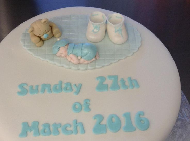Christening Cake decorated by Coast Cakes Ltd