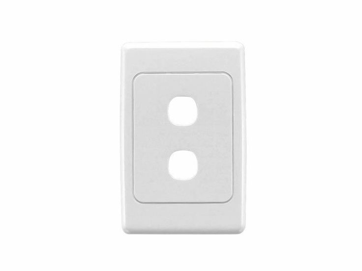 Clipsal 2032VH White 2000 Series Light Switch Two 2 Gang Double Wall Plate Vert