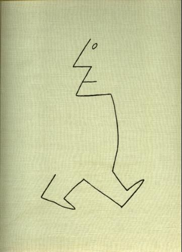 Hardcover Passport by Saul Steinberg 1954  Romanian Saul Steinberg is best known for his drawings in The New Yorker. He has won various awards for his drawings and watercolors. He is the author of several books of drawings, including The Passport, and The New World. He died in 1999.