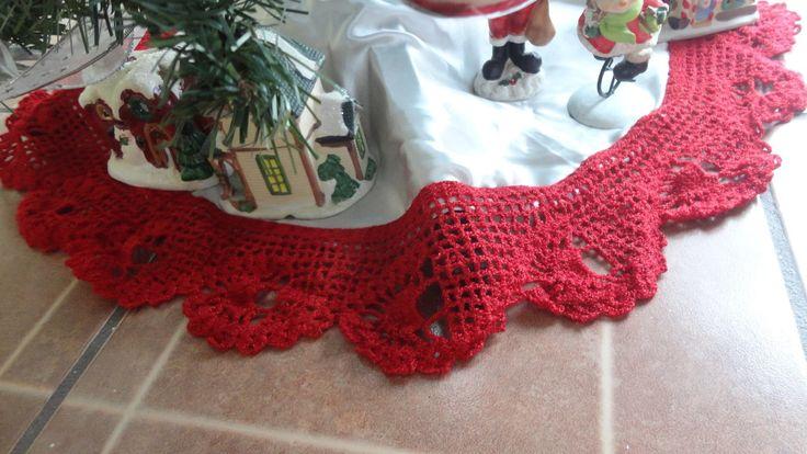 PUNTILLA PIE DE PINO  piñas a crochet paso a paso