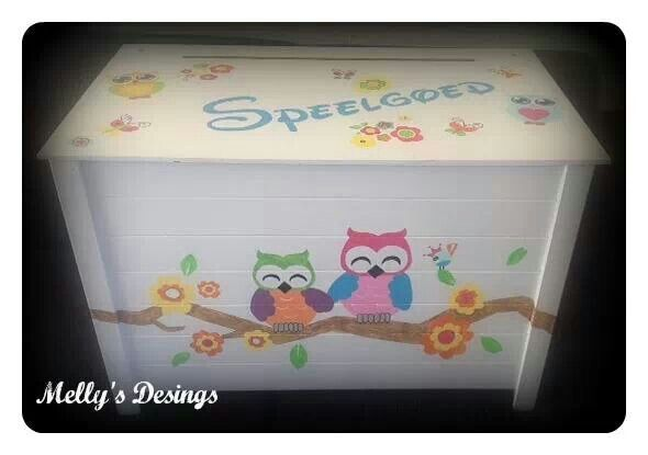 Self painted Toy Box