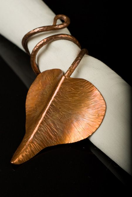 LOVE this forged copper napkin ring