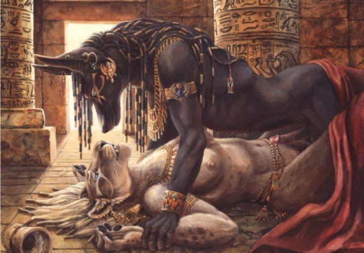 Egyptian God Anubis & Egyptian Goddess Sekhmet.jpg (736×511)