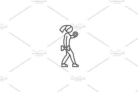 Fitness Woman Vector Line Icon Sign Illustration On Background Editable Strokes Line Icon Fit Women Illustration These vector vector designs are available now under a traditional rf license. pinterest