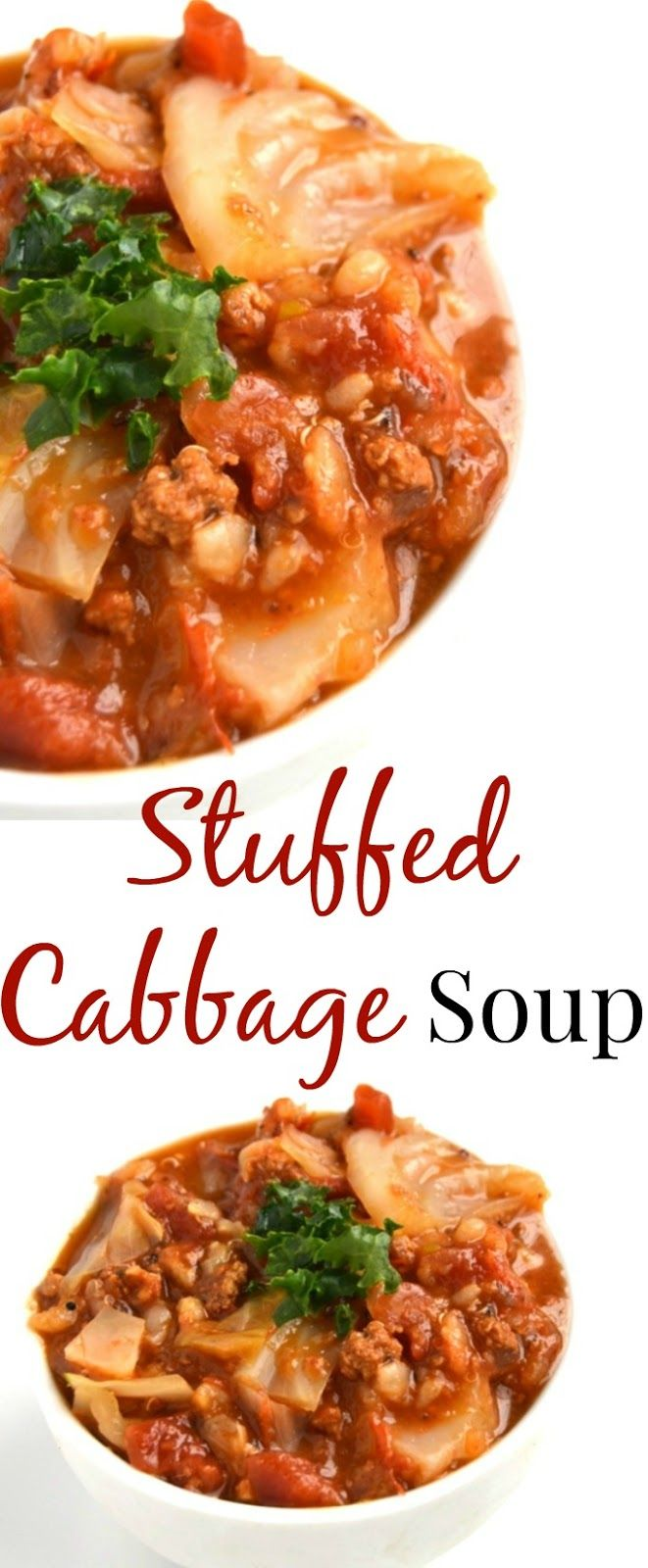 This Stuffed Cabbage Soup is simple to make, is nutritious and full of flavor. Make a big pot for the week ahead for quick and easy meals. www.nutritionistreviews.com