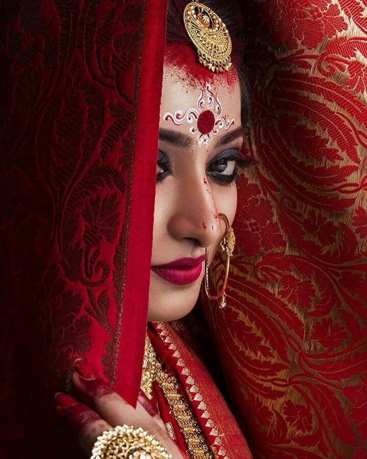 Bengali bride makeup