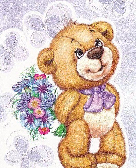 Рисунки медвежат на марта номера оборудованы