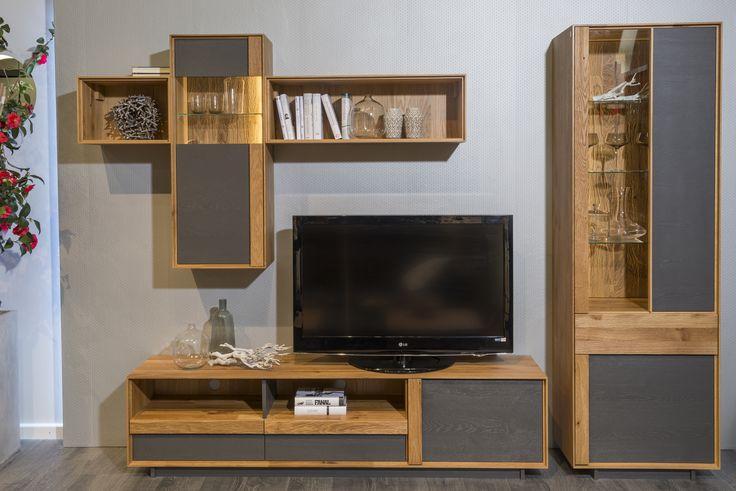 Decorating Around the TV.  Interior idea for livingroom.  #KloseFurniture #Woodenfurniture #livingroom #woodenshelves
