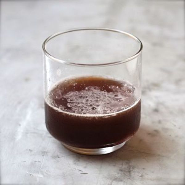 In this dark, easy-drinking cocktail, Bourbon, creme de cassis, and elderflower liqueur come together in a beautiful marriage of flavors.