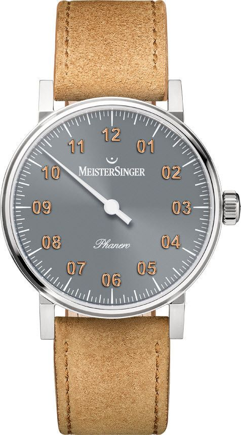 MeisterSinger Watch Phanero #add-content #basel-16 #bezel-fixed #bracelet-strap-leather #brand-meistersinger #case-depth-7-5mm #case-material-steel #case-width-35mm #delivery-timescale-1-2-weeks #dial-colour-grey #gender-mens #luxury #movement-manual #new-product-yes #official-stockist-for-meistersinger-watches #packaging-meistersinger-watch-packaging #style-dress #subcat-phanero #supplier-model-no-ph307g #warranty-meistersinger-official-2-year-guarantee #water-resistant-30m