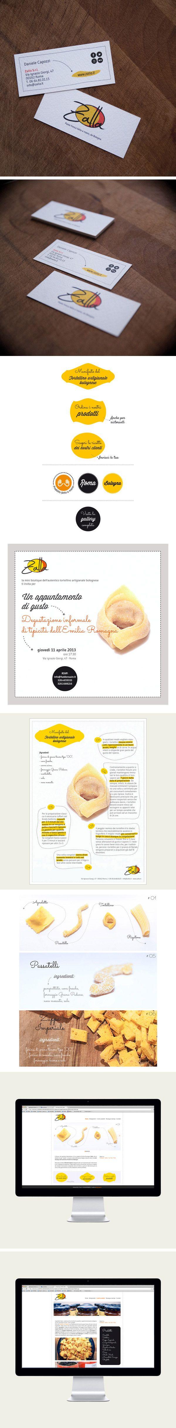 Graphic design and web design for Zalla
